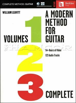 A Modern Method for Guitar Volumes 1 2 & 3 Complete TAB & Music Book/Audio/Video
