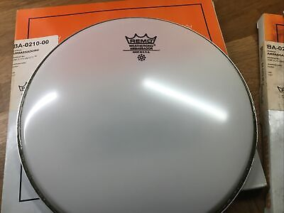 "NEW Remo 10"" Ambassador Smooth White Drum Head • 9.95£"