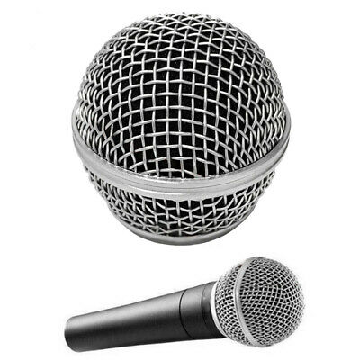2Pcs Microphone Grill Mic Grille Ball Head Mesh For Shure Beta58a Sm58 Silver UK • 7.81£