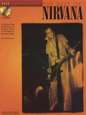 The Best Of Nirvana Bass Signature Licks Guitar TAB Music Book with CD