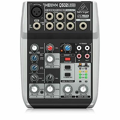 Premium 5 Input 2 Bus Mixer With XENYX Mic Preamp/Compressor/British EQ And • 67.99£