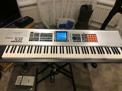 Roland Fantom X8: 88 Key Piano Keyboard Synthesizer + Pedal + Stand + Carry Case • 500£
