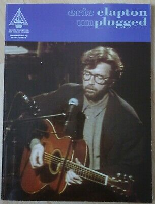 ERIC CLAPTON - Unplugged / Guitar Tab Book / Recorded Versions / J. Gress  • 8.68£