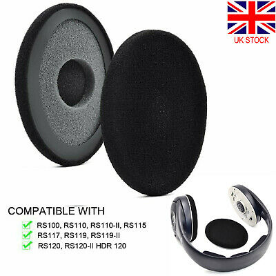 Headphones Headset Cushion Cover Cups Ear Pads For Sennheiser RS100 RS120 HDR120 • 10.30£