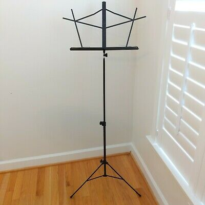 On-Stage SM7122BB Compact Sheet Music Stand - Adjustable Height, Folding, Black • 10.90£