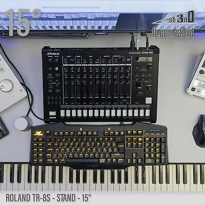 ROLAND TR-8S STAND - 15 Degrees - 3D Printed- 100% Buyers Satisfaction • 23.99£