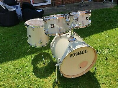 Tama Superstar Classic Drum Kit Vintage White Sparkle 20 10 12 14 and snare