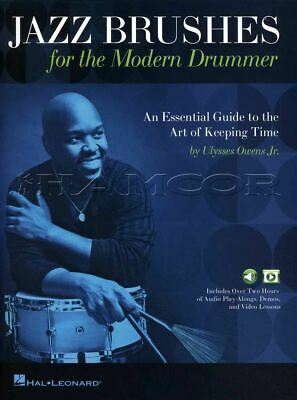 Jazz Brushes for the Modern Drummer Drum Sheet Music Book with Audio & Video