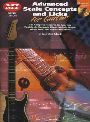 Advanced Scale Concepts & Licks for Guitar TAB Book/CD Pentatonic Minor Scales