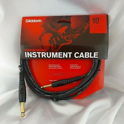 Planet Waves by D'addario 10ft Custom Series Instrument Cable PW-G-10 Guitar