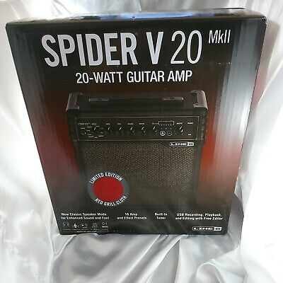 Line 6 Spider V120 Guitar Amp (MKII) with Accessories BN & Sealed