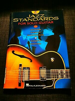 Jazz Standards For Solo Guitar Book by Jamie Findley Hal Leonard Inc CD