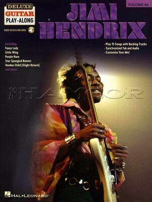 Jimi Hendrix Deluxe Guitar Play-Along TAB & Music Book/Audio SAME DAY DISPATCH