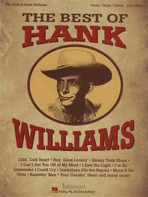 The Best of Hank Williams Piano Vocal Guitar Sheet Music Book SAME DAY DISPATCH