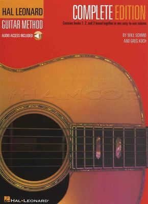Hal Leonard Guitar Method Complete Edition 1 2 3 Music Book/Audio Learn To Play