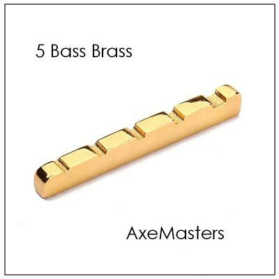 USA MADE AxeMasters 1 7/8  / 48mm BRASS NUT For Fender JAZZ & P Bass V 5 String • 12.27£
