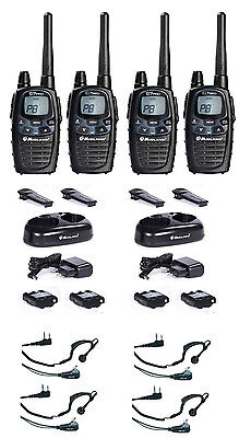 Midland G7 Pro Plus 4 Er Case Set Desk Charger Vox Pmr Headset Radios Set • 257.40£