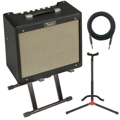 Fender Blues Junior IV Guitar Amplifier STAGE ESSENTIALS BUNDLE • 477.56£
