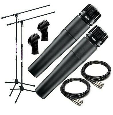 Shure SM57-LC Dynamic Instrument Microphone TWIN PERFORMER PAK • 148.37£