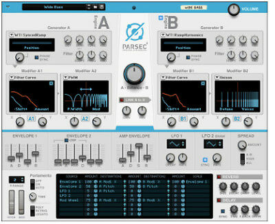 Reason Studios Parsec 2 Rack Extension, synth wavetable software download