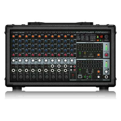 Behringer PMP2000D 2000-Watt 14-Channel Powered Mixer With KLARK TEKNIK Multi-FX • 367.98£