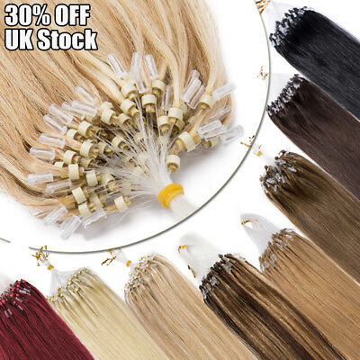 UK Stock Micro Loop Ring Bead Human Remy Hair Extensions THICK 200G Mix Color MF • 109.20£