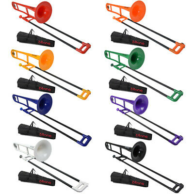 PBone Plastic Bb Tenor Trombone With Free Carry Bag And Mouthpiece • 119£