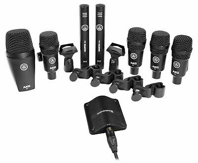 AKG Drum Set Session I (7) Microphone Kit W/Bass/Overhead/Snare/Tom+Boundary Mic • 412.09£