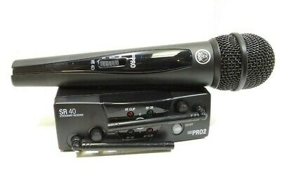 AKG WMS40 Mini Dual Wireless Vocal Microphone System-INCOMPLETE- RRP £133.50 • 80£