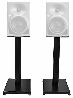 "Rockville 21"" Black Steel Studio Monitor Speaker Stands For Neumann KH 80 DSP • 46.05£"