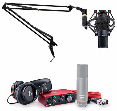 Focusrite SCARLETT SOLO STUDIO 3rd Gen Audio Interface+Mic+Headphones+Boom Arm • 181.52£