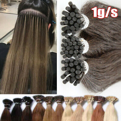 Micro Ring Bonds 1G/S Stick Tip I Tip Double Drawn Remy Human Hair Extensions UK • 81.99£