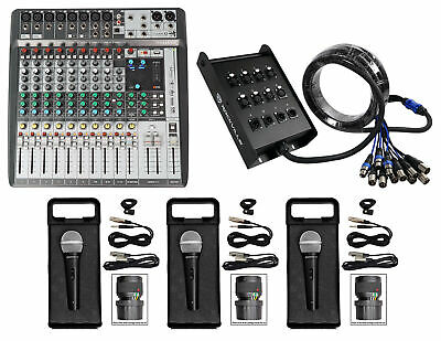 Soundcraft Signature 12 MTK 12MTK Mixer W/ Interface+Snake Cable+(3) Microphones • 386.82£
