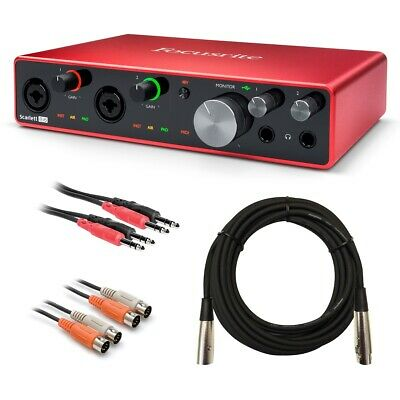Focusrite Scarlett 8i6 (3rd Gen) USB Audio Interface CABLE KIT • 226.98£