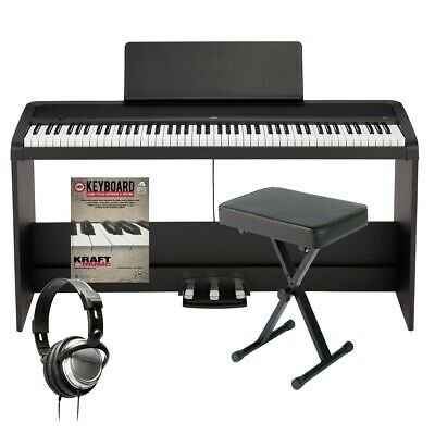 Korg B2SP Digital Piano With Stand - Black HOME ESSENTIALS BUNDLE • 445.77£