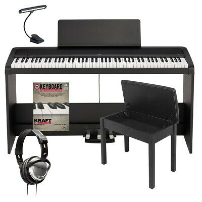 Korg B2SP Digital Piano With Stand - Black COMPLETE HOME BUNDLE • 486.14£