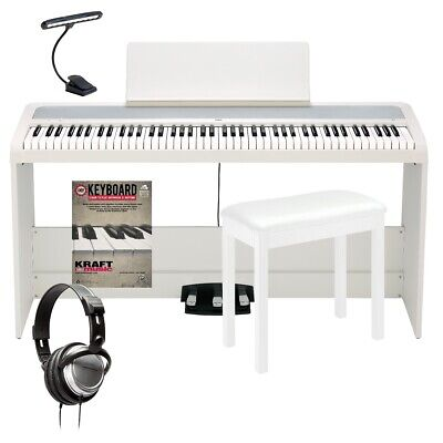 Korg B2SP Digital Piano With Stand - White COMPLETE HOME BUNDLE • 532.62£