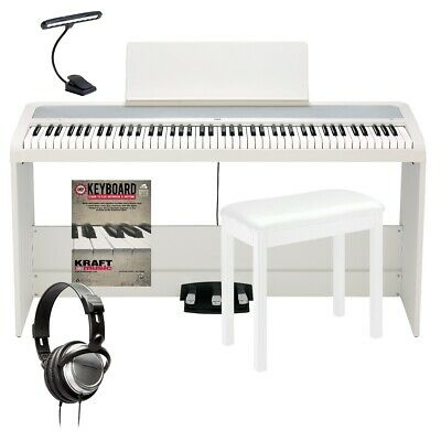 Korg B2SP Digital Piano With Stand - White COMPLETE HOME BUNDLE • 530.84£