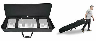 Rockville 61 Key Keyboard Case W/ Wheels+Trolley Handle For Yamaha CP73 • 80.23£