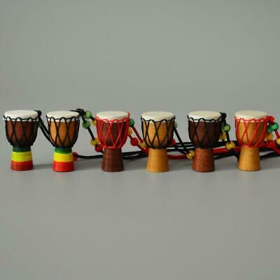 5x Jambe Drummer Djembe Pendants Percussion Musical Instrument African Hand Drum • 4.97£