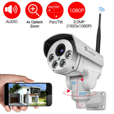 Luowice 1080P Security Camera Indoor/Outdoor With PTZ 4X Zoom Audio Night Vision • 98.99£