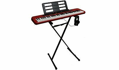 Casio CT-S200RD Keyboard, Stand & Headphone Bundle - Red • 139.99£