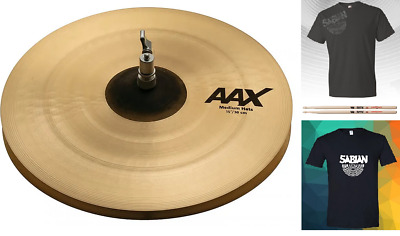 Sabian AAX 15  Medium Hi Hats Natural Finish Cymbals Bundle & Save Auth Dealer • 301.07£