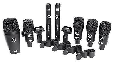 AKG Drum Set Session I (7) Microphone Kit W/ Bass/Overhead/Snare/Tom+Clamps+Case • 316.23£