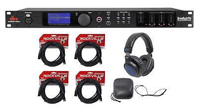 DBX DriveRack PA2 Sound Signal Processor Speaker Manage System+Headphones+Cables • 348.11£