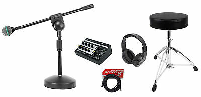 AKG D112 MKII Kick Drum Bass Guitar Microphone+Mic Mixer+Stand+Throne+Headphones • 194.99£