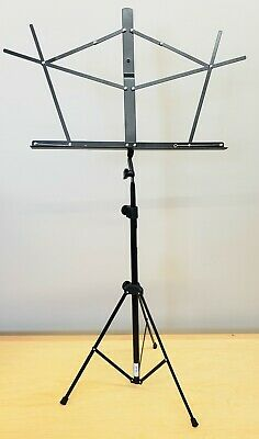 On Stage Stands Compact Sheet Music Stand W/Bag - Black - Sheet Holders SM7122BB • 8.34£