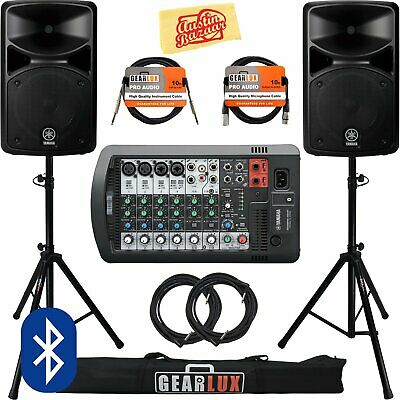 Yamaha STAGEPAS 400BT Portable PA System Bundle With Speaker Stands, Cables, And • 847.48£