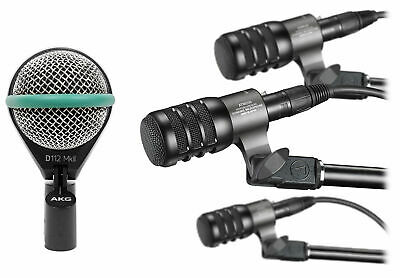 Audio Technica ATM230PK Dynamic Instrument Microphones Drum Mics+AKG Kick Mic • 345.33£