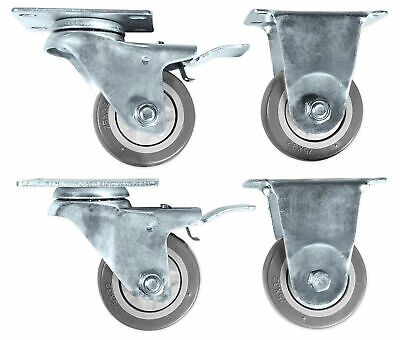 Rockville 3  Locking+Swivel Steel Caster Wheels For JBL EON618S Subwoofer • 24.02£